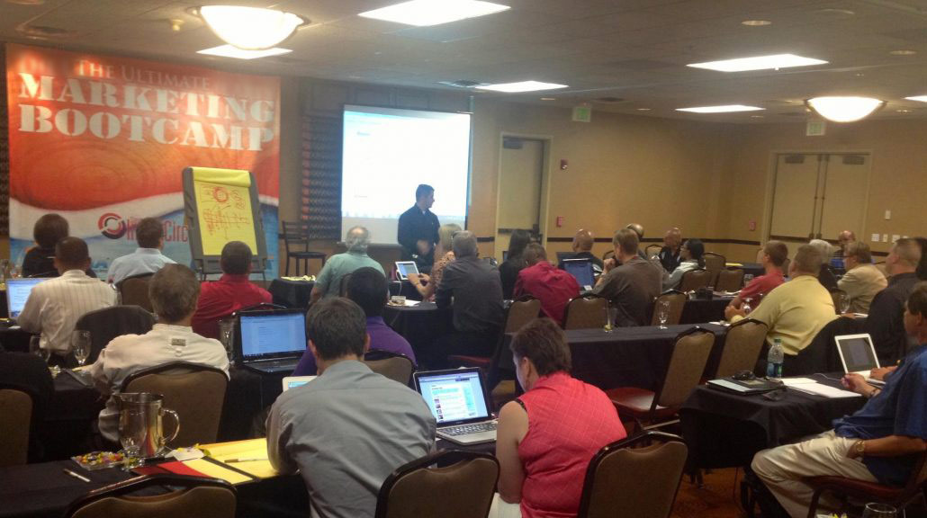 """The Annual """"Marketing Bootcamp"""" typically held in Golden, Colorado. Creating a Plan for 100 new clients in 6-8 weeks."""