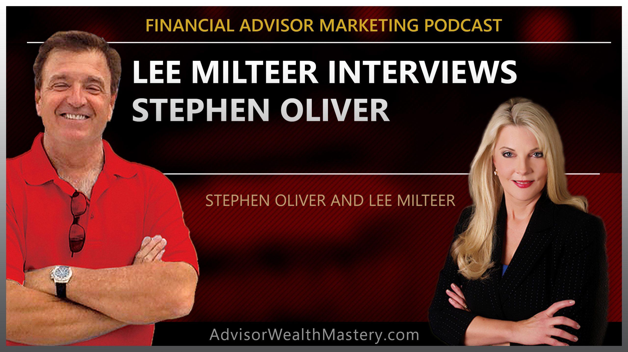Lee Milteer Interviews Stephen Oliver
