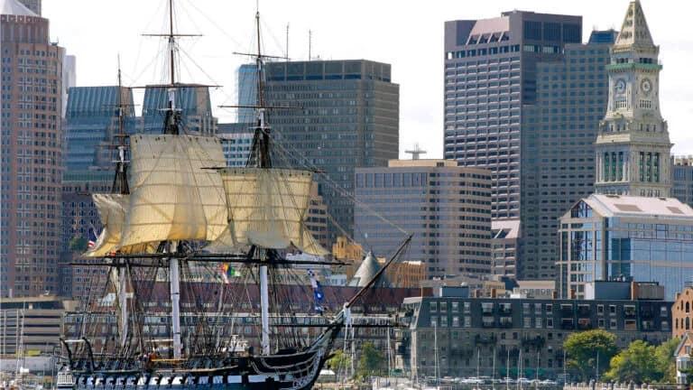 Picture of ship in Boston Harbor